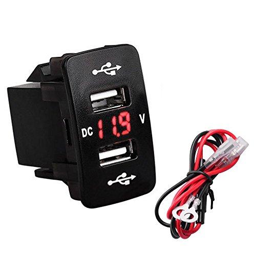 Preisvergleich Produktbild Bkinsety USB Kfz-Ladegerät 5V / 4.2A Auto Ladegerät und LED Voltmeter Verwendung für iPhone,  Samsung,  Nexus,  HTC,  LG und mehr