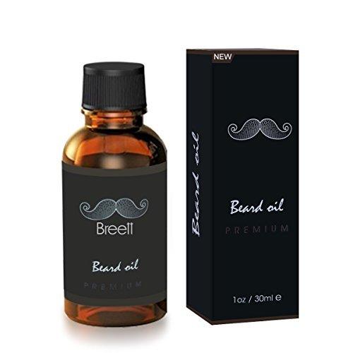 Aceite Para Barba ,Breett natural puro esencial de cuidado del vello facial para el uso de cuidado de la barba de hombre 30 ml