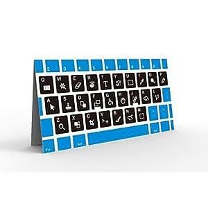 TY ZZCP Photoshop raccourcis clavier autocollant pour PC portable Blanc Noir