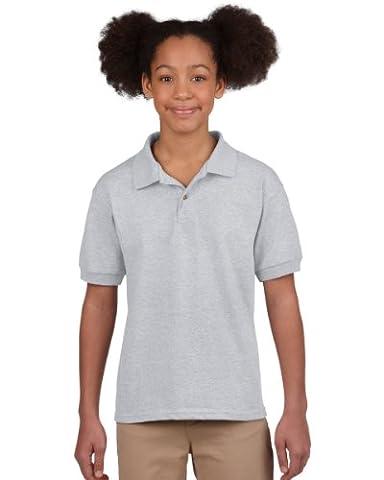 Gildan Dryblend Youth Jersey Polo Colour=Sport Grey Size=XL