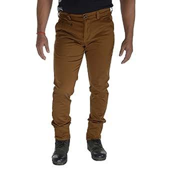Van Heusen Men's Cotton Slim Fit Trousers-Camel Colored, (38)