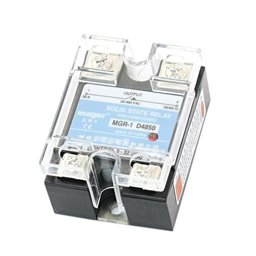 DealMux Solid State Relais mit Clear Cover, MGR-1 D4850 ??DC 3-32V zu AC 24-480V, 50A -