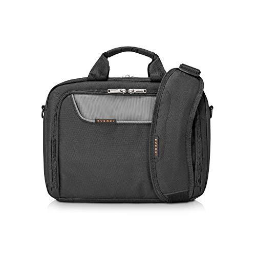 Everki Advance - Laptoptasche für Notebooks bis 11,6 Zoll (29,4 cm) mit iPad / Tablet-Fach, Zubehör-Fach, kontrastreichem Innenfutter und Trolley-Lasche, Schwarz