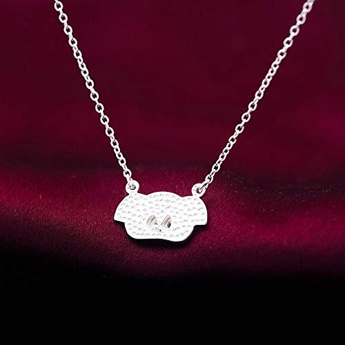 ZUXIANWANG Damen Halskette,Punk Persönlichkeit Tier Schwein Halskette Sterling Silber 925 Für Frauen Geburtstag Party Mode Schmuck Minimalistische Geschenk
