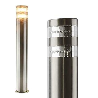 LED Aussenleuchte Standleuchte Wegeleuchte Standlampe Gartenleuchte Edelstahl 404-800