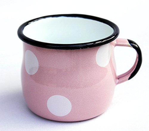 emaille-tasse-501w-7-becher-emailliert-7-cm-kaffeebecher-kaffeetasse-teetasse-rosa-mit-weissen-punkt