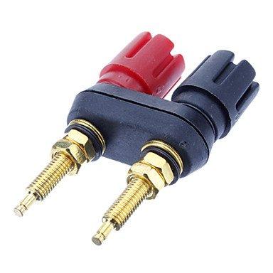 MEIHE-Cables/Adapters Kabel und Adapter Banana Plug Binding Post Welding Vergoldete Black & Red für Heimkino Binding-post-adapter