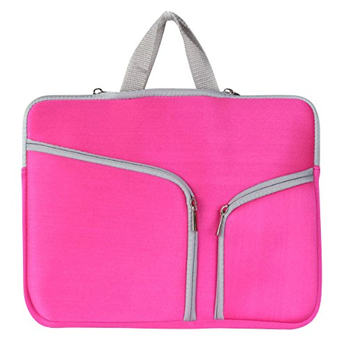 15-17 Zoll Laptoptasche Aktentaschen Handtasche Schulter Tasche Notebooktasche Laptop Sleeve Laptop hülle für Laptop Dell Alienware/MacBook/Lenovo/HP Pink
