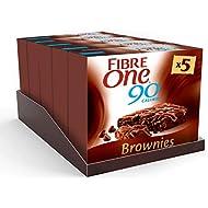 Fibre One 90 Calorie Chocolate Fudge Brownies 24g (Pack of 25 bars) (5 packs of 5 bars)