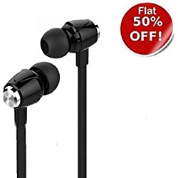 Today offers/sale! EAR PHONE/Head phones Robost Stereo Earphone Hands-Free Metal Dot Headset with Mic and Volume Controller 3.5Mm Jack Compatible for OnePlus Lenovo Samsung Apple IPhone Xiaomi Motorola Asus Honor Intex Oppo Cool pad Gionee HTC Vivo Micromax data wind LeEco Lava LYF Spice Blackberry Infocus Android Mobiles/ Tablets, Laptops & Gaming Consoles EZ181- Black