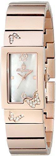 Burgmeister Perpignon, Reloj de cuarzo para mujer, con correa de otros materiales, Rosado