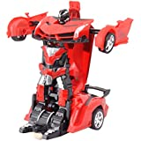 Toyshine Converting Car to Robot Transforming Lamborghini Toy with Remote Controller for Kids, 1:16 Scale, Assorted Color