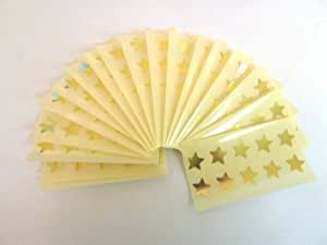 180 Labels , 15mm Stars , Shiny Gold , Colour Code Stickers , Self-Adhesive Sticky Coloured Labels