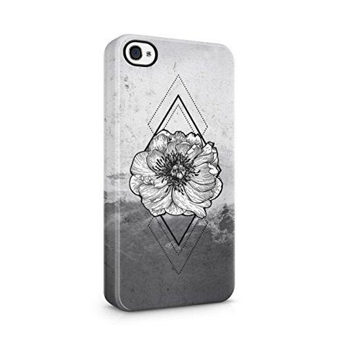 Poppy Blume Blossom Ocean Sea Waves Dünne Handy Schutzhülle Hardcase Aus Hartplastik Hülle für iPhone 4 / iPhone 4S Handyhülle Case Cover (Lotus-blume Iphone 4 Case)