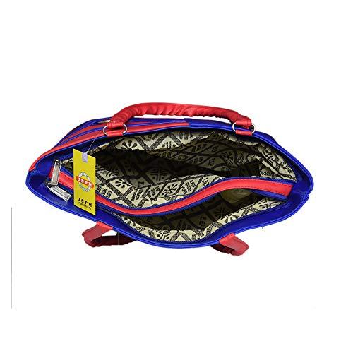 Best college bags for girl in flipkart in India 2020 JSPM® Girl's & Women's Handbag Pink&Blue (SP-1001) Image 5