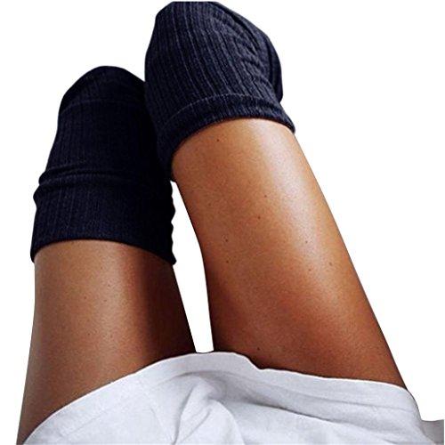 Gamaschen Damen DAY.LIN Winter Über Knie gestrickt Langer Stiefel Oberschenkel-hohe warme Socken (Für Stiefel Skinny Oberschenkel Beine Hohe)