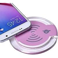 Turquía alta potencia 10W Fast QI Wireless Pad de carga portátil soporte de carga Dock con LED para Samsung Galaxy S9/S9Plus/iPhone 8/iPhone 8plus/Galaxy S8/S8Plus/Galaxy S7/S7Edge etc., rosa
