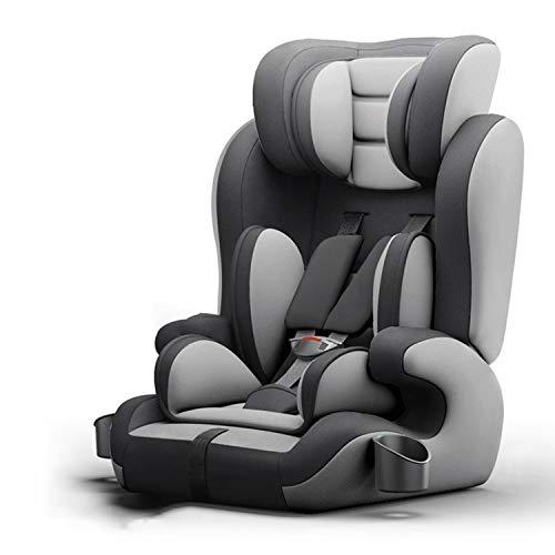 Kindersitz Gruppe1 / 2/3 (9-36 Kg) Isofix, Verstellbare Kopfstütze für Babyautositze (9 Monate-12 Jahre) / 3c-Zertifizierung/Verschiedene Farben Zur Auswahl. (Color : Gray*1)