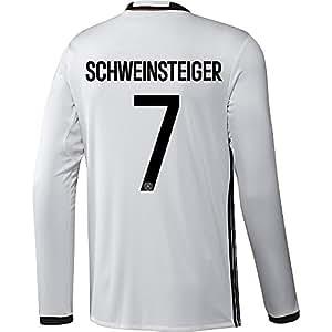 Adidas SCHWEINSTEIGER #7 Deutschland Heim Trikot EURO 2016 Langarm (US-Größe)