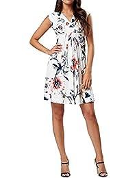 Vestidos Premamá Verano, SUNNSEAN Blusas de Maternidad Chaleco sin Mangas Estampada de Flores de Moda