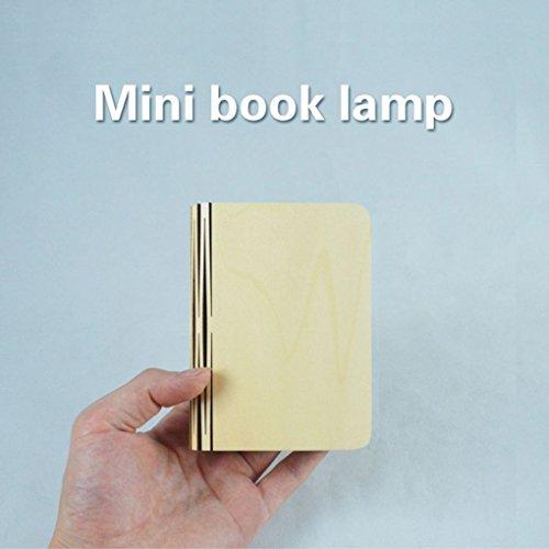 Förmigen Schreibtisch (Republe Buch-förmigen Nacht faltbare Kleine Lichter USB-Mini-Buch-Lampen Neben Nacht Bett Schreibtisch Tisch für ein GeschenkRepuble)