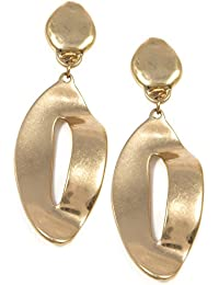 e9a79020ab59 Happiness Boutique Women Long Clip On Earrings in Gold Colour
