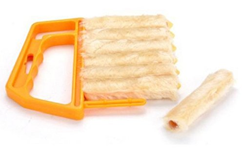 ikrr-limpieza-limpiador-persianas-polvo-microfibra-cepillo-desmontable-naranja