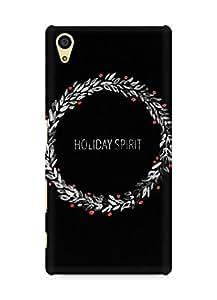 Amez designer printed 3d premium high quality back case cover for Sony Xperia Z5 (Holiday spirit minimal dark christmas)