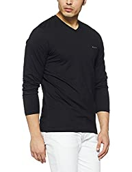 Monte Carlo Mens Solid Regular Fit T-Shirt (217039918-1_Black_40)