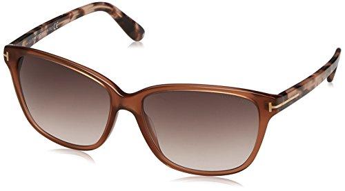 Tom Ford Für Frau 0432 Dana Transparent Light Brown / Pink Tortoise / Brown Gradient Kunststoffgestell Sonnenbrillen