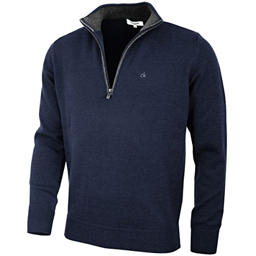 Calvin Klein Golf 2016 Mens Chunky Cotton Sweater - Navy - Xl