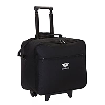 Slimbridge Kalmar Super Lightweight Business Travel Wheeled Rolling Laptop Tablet Computer Trolley Suitcase Hand Luggage Cabin Approved Bag Case Briefcase Organiser with Overnight Compartment - laptop-roller-cases