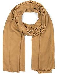 styleBREAKER morbida stola a tinta unita con frange, foulard, unisex 01017070