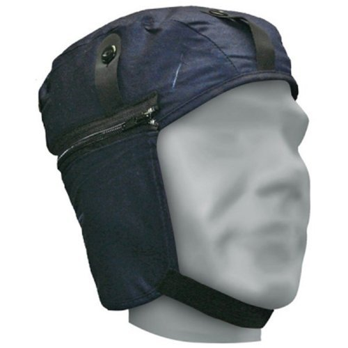 Zip-liner (Bob Dale 90-0-430 Quilted Cotton Hard Hat Liner with Zip Off Extensions, Size 1, Navy Blue by Bob Dale)