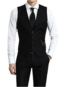 KAYHAN Herren Weste Slim Bügelleicht, Super Modern, Super Qualität auch als Set erhältlich mit einem Hemd