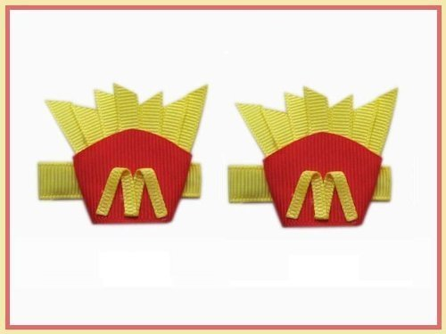 2pc-set-boutiue-mcdonalds-french-fries-hair-bow-clips-by-n-a