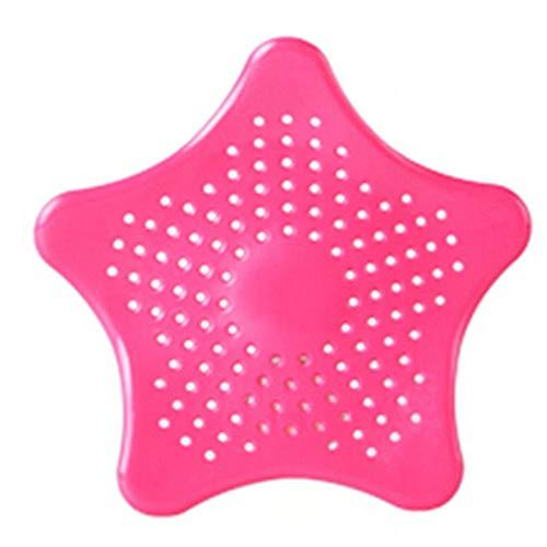 SHUFAGN,Küchenzubehör für Badezimmer Sucker Sink Filter für Küche, Bad, Boden(color:ROSE ROT)