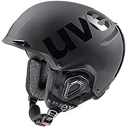 Uvex jakk + Octo + Casque de Ski Taille Unique Black Mat-Shiny