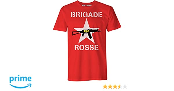 As Worn By Joe Strummer From The Clash Mens Brigade Rosse T-Shirt Red Brigades