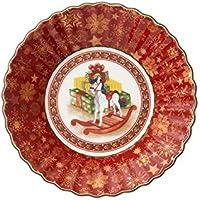 Villeroy & Boch Toy's Fantasy Bol pequeño Caballo balancín, Porcelana Premium, Rojo