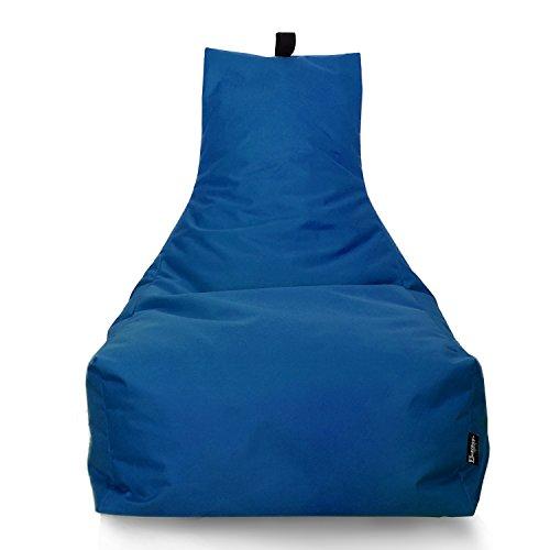 BuBiBag Lounge Sitzsack Sitzkissen XXL Tobekissen Bodenkissen Beanbag Kissen, für Kinder und Erwachsene (Blau)