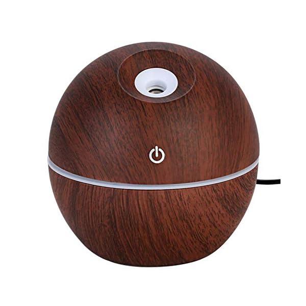 SANJIBAO 130 ml de Madera del Grano de aromaterapia humidificador Aroma Essential USB LED difusor del Aceite del Aire… 1