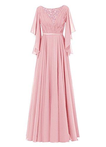 Dresstells, Robe de soirée Robe de cérémonie Robe de mère de la mariée longueur ras du sol Blush