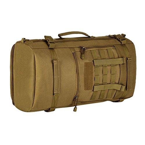 Gazechimp 50L Molle Rucksack Taktischer Unisex Erwachsene Reiserucksack Reisetasche Wanderrucksack Trekkingrucksack Outdoor Sporttasche Braun