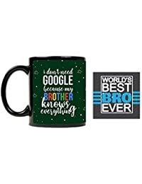 YaYa Cafe™ Bhaidooj Gifts for Brother Google Brother Quote Printed Mug 330 ml Birthday Gifts