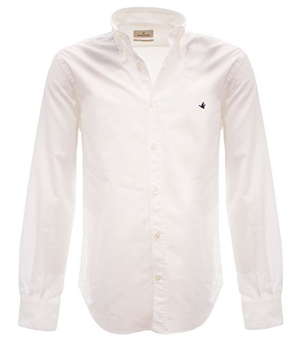 202A.Q033BIANCO Brooksfield Camicia Bianco 41 Uomo