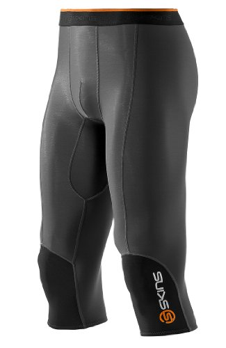 Skins Herren Kompressiontight S400 Thermal 3/4, black/graphite/orange, M (Skins 3/4 Tight)