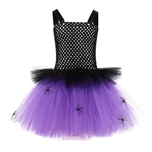 BaZhaHei Kinder Halloween Cosplay Kostüm Outfits Mädchenkleid ärmelloses Netzkleid Kleinkind scherzt Baby-Halloween-Kleidung Tulle-Partei-Prinzessin Dress (XXL, - Kostüm Partei Ideen Jungs