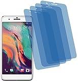 4x Crystal clear klar Schutzfolie für HTC One X10 Dual SIM Premium Displayschutzfolie Bildschirmschutzfolie Schutzhülle Displayschutz Displayfolie Folie