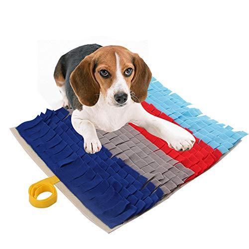 G-Tree Snuffle Matte für Hunde Pet Feeding Mat Gymnastikmatten Spielzeug mit umweltfreundlichen Stoff (17.7x17.7in / 45x45cm), Ideal für Hunde